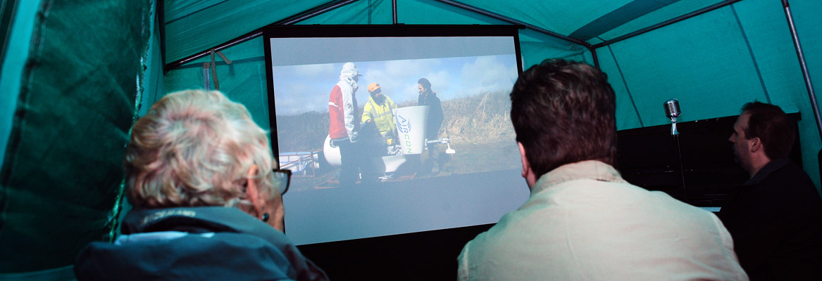 Community Power Cornwall film screenings at Gorran event